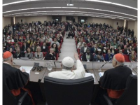 Pope Francis at Pre-Synodal meeting with youth. Source: Vatican News
