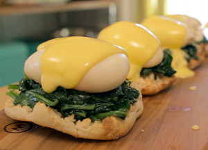 Eggs Florentine (Source: Youtube https://www.youtube.com/watch?v=5vXDJZzSdP0)