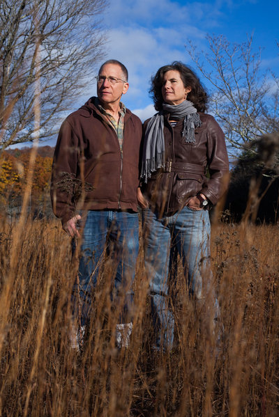 Rick Ostfeld and Felicia Keesing. (Photo by Stephen Reiss for NPR