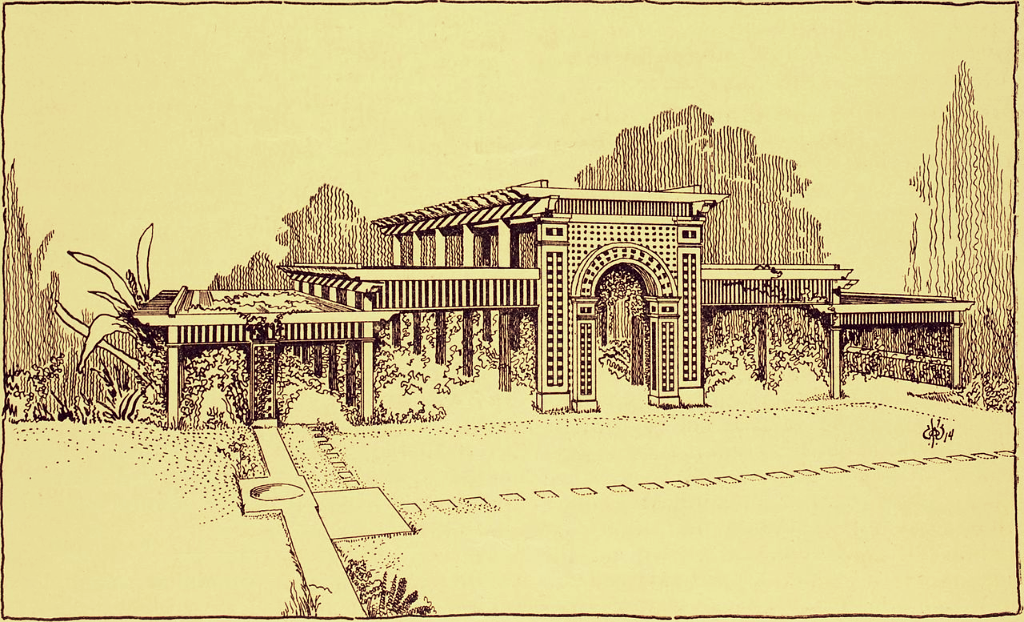 "Lath house design from ""California Garden, Vol. 6, No. 3, September 1914"" (1914) https://www.flickr.com/photos/internetarchivebookimages/14597748669/ via Wikimedia Commons"