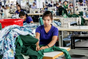 Garment worker in Myanmar garment factory. (Photo by triplepundit.com.)