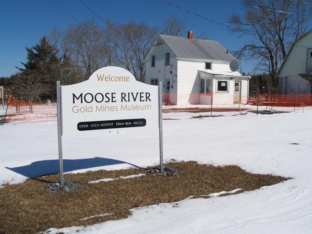 Sign for Moose River museum. (Photo by Joan Baxter)
