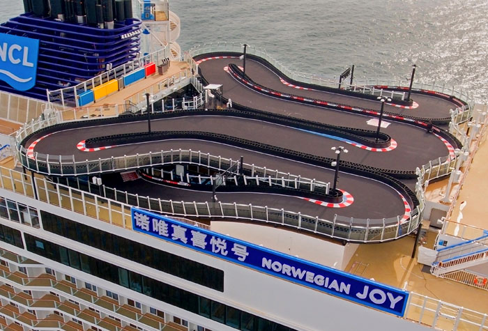Race track on Norwegian Joy cruise ship. (Source: Norwegian Cruise Line)