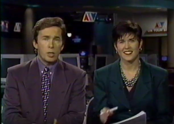 ATV Evening News Weekend with Jonathan Gravenor & Janice Landry, 1994. (Source: YouTube)