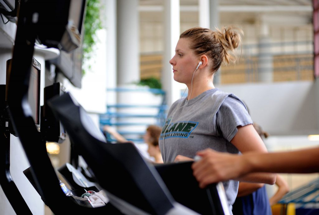 Working out at the Reily Center (Source: By Tulane Public Relations [CC BY 2.0 (https://creativecommons.org/licenses/by/2.0)], via Wikimedia Commons)