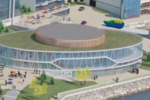 Artist's rendering of CBRM Central Library.