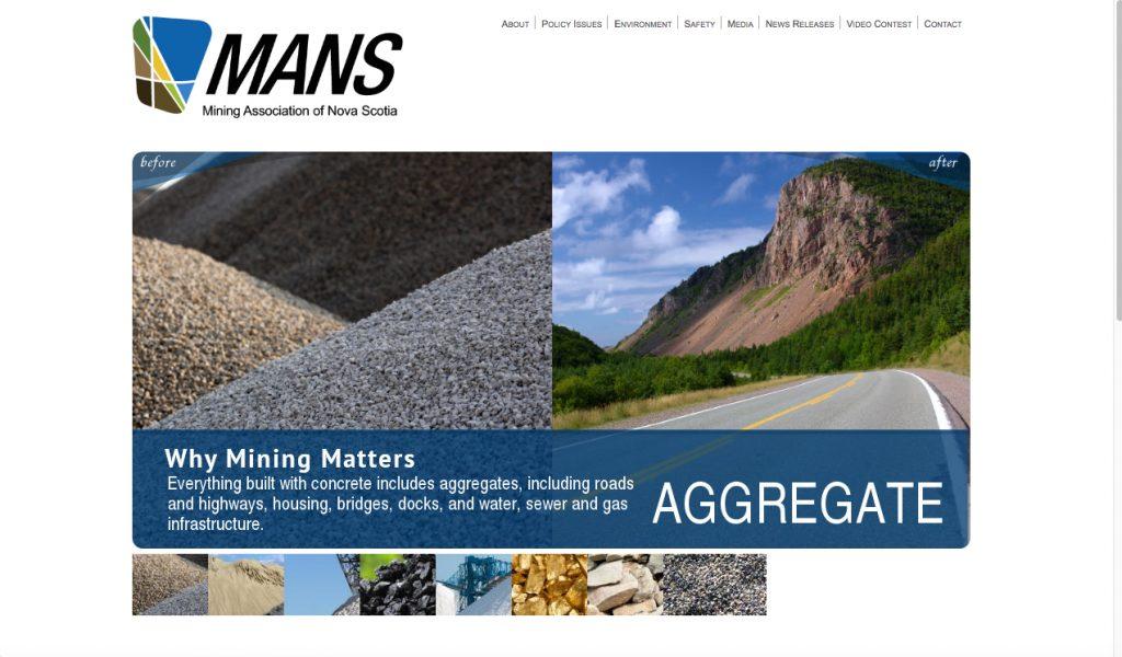 Screenshot. MANS website.