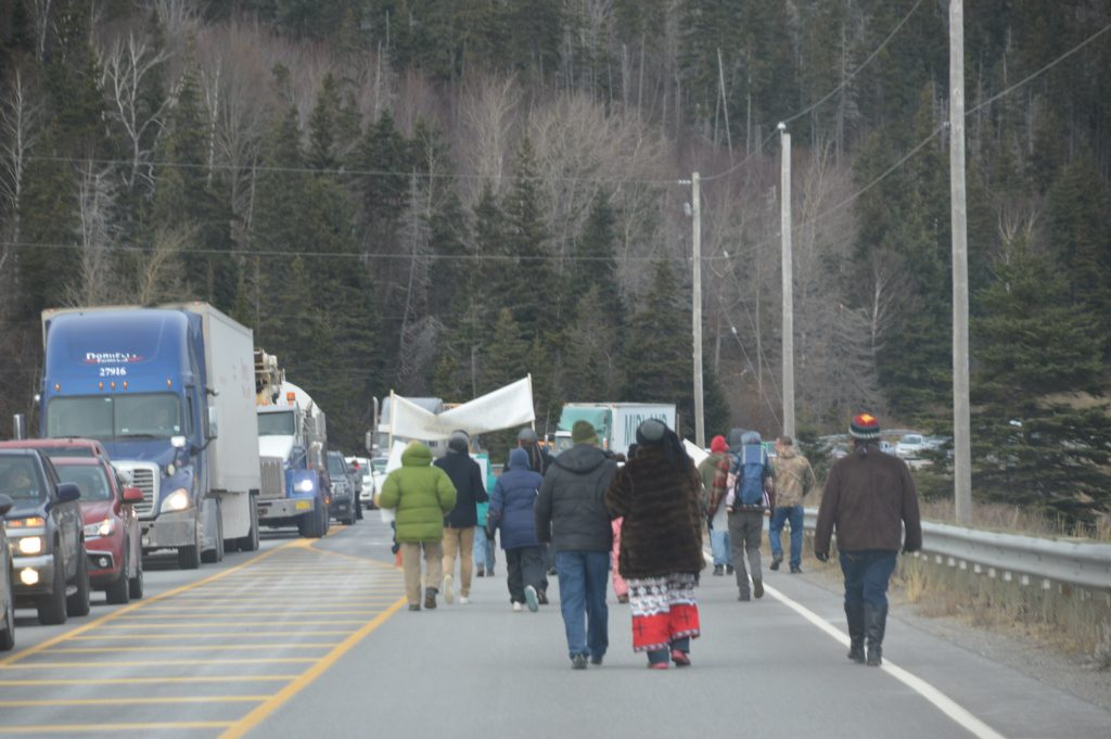 Kellys Mountain protest, November 2017. Photo courtesy Paul Strome