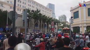 10 June 2018 demonstration in Ho Chi Minh City (Saigon) Vietnam. (Source: VOA YouTube https://www.youtube.com/watch?v=9xPsItIMOxY)