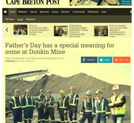 A Father's Day Gift to the Donkin Mine