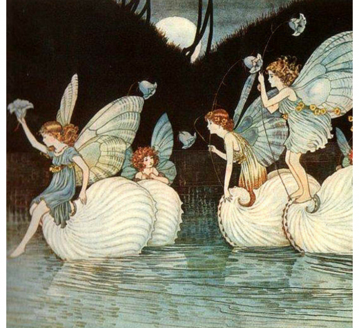 """Fairy Island"" from the book Elves and Fairies by Ida Rentoul, 1916. (Public Domain via Wikimedia Commons)"