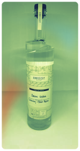 Bacon vodka from Sudbury's Crosscut Distillery. (Source: Crosscut web site)