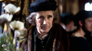 Mark Rylance as Thomas Cromwell in the BBC adaptation of Hilary Mantel's Wolf Hall. (Source BBC Two https://www.bbc.co.uk/programmes/p02gfy02)