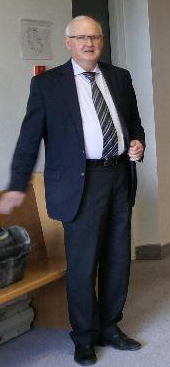Michael Merritt prior to testifying during former CBRM Economic Development Manager John Whalley's civil suit against the municipality. Spectator photo.