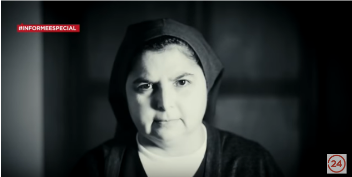 Yolanda Tondreaux, one of the Chilean nuns of the Sisters of the Good Samaritan who went public with their accusations of abuse at the hands of priests. (Source: Televisión Nacional de Chile via Youtube https://www.youtube.com/watch?v=y4Z-Ih-gjBY)