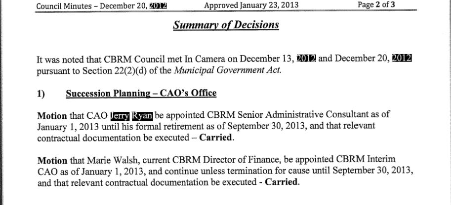 Source: CBRM Special Council Minutes, 20 December 2012 http://laserfiche.cbrm.ns.ca/WebLink8/DocView.aspx?id=38923&searchid=caa659b1-fa8c-4d51-bb83-ecdc99063e91&dbid=1