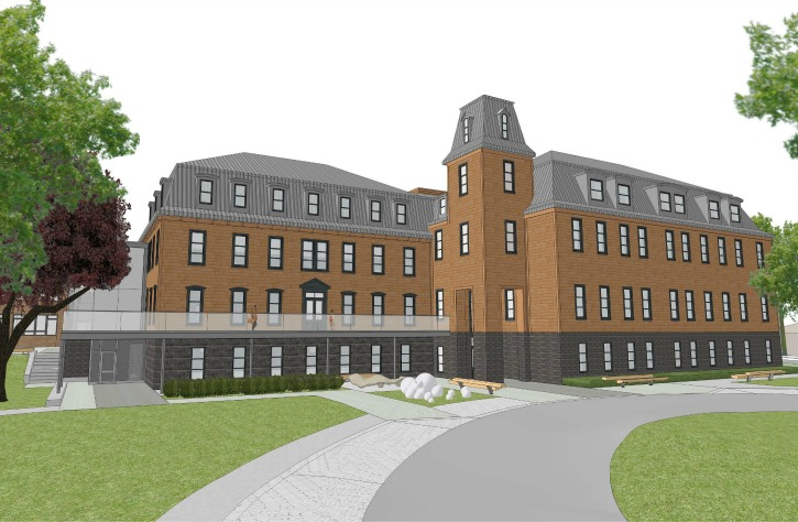 New Dawn Centre for Social Innovation (Artist's rendering of renovations). Source: New Dawnhttp://centre.newdawn.ca/the_convent)