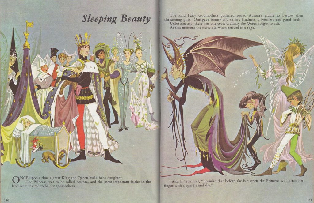 Sleeping Beauty from Dean's A Book of Fairy Tales illustrated by Janet and Anne Grahame Johnstone.