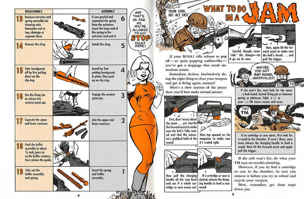 Excerpt from Will Eisner's 1968 M16 rifle manual (Source: eBay)