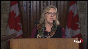 Elizabeth May. (Source: Global News)