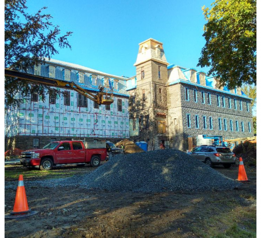 Renovations at old Holy Angels Convent, Sydney NS. October 2018. (Spectator Photo)