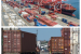 Top: Halterm (Source Port of Halifax) Bottom: Truck traffic, Port of Halifax (CBC Photo)