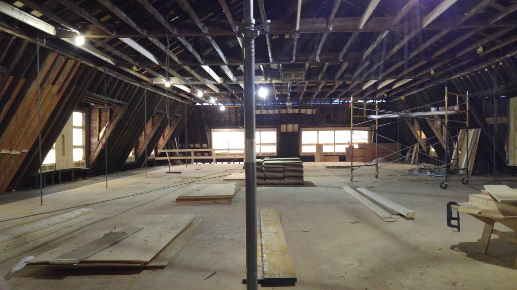 Future shared studio space, fourth floor, north wing. (Spectator photo)