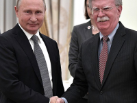 Vladimir Putin and John Bolton, Kremlin, 23 October 2018 (Kremlin.ru [CC BY 4.0  (https://creativecommons.org/licenses/by/4.0)], via Wikimedia Commons