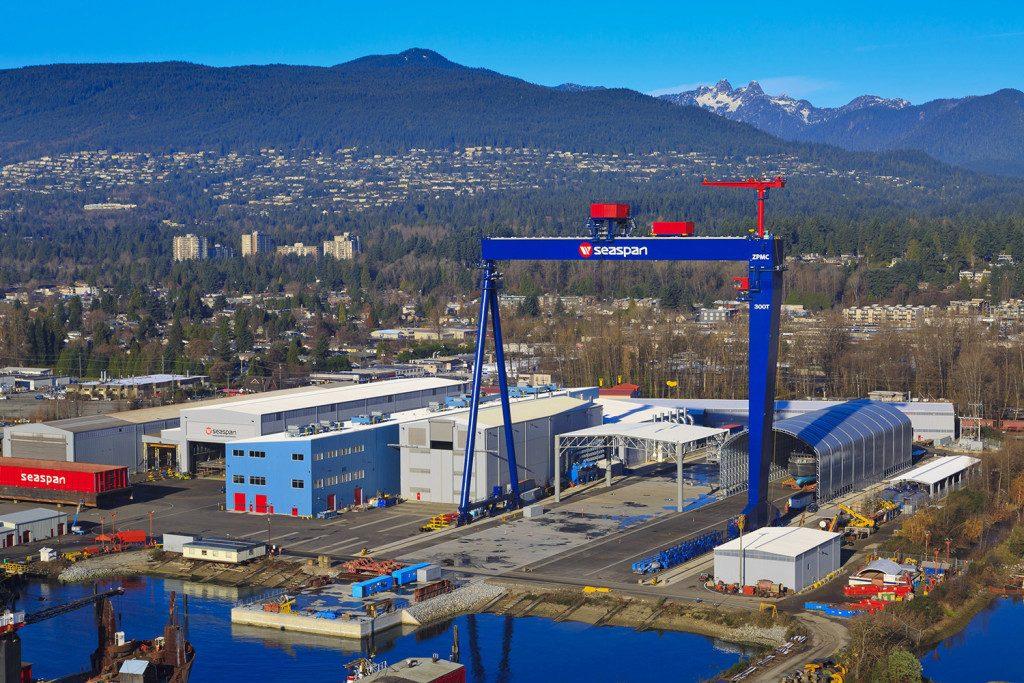 Seaspan Shipyards, Vancouver. (Source: Seaspan)