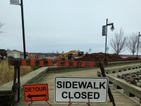 Construction on CBRM boardwalk. 13 Nov 2018 (Spectator photo)