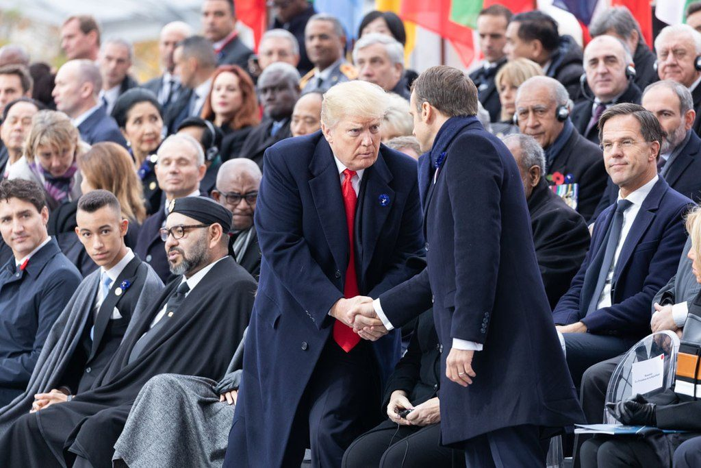 President Donald J. Trump and First Lady Melania Trump attend the Centennial of the 1918 Armistice Day ceremony Sunday, Nov. 11, 2018, at the Arc de Triomphe in Paris. (Official White House Photo by Shealah Craighead)