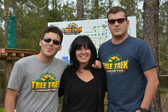 """The Barbusci family at Orlando Tree Trek"" (Source: Florida Hikes! https://floridahikes.com/orlando-tree-trek-a-swinging-hike)"