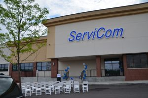 This 2015 photo of empty chairs marking the opening of the Rockford, Illinois branch of ServiCom (which has also closed its doors) seems weirdly appropriate today.