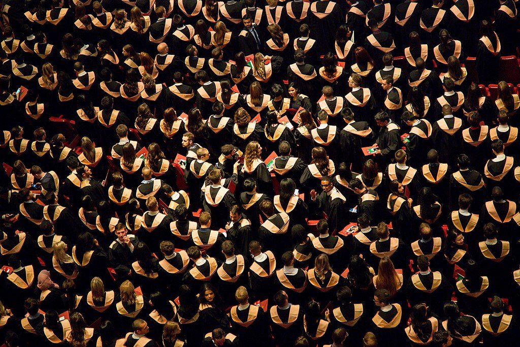 University graduation ceremony, Ottawa. (Photo by Faustin Tuyambaze tfaustin [CC0] https://creativecommons.org/share-your-work/public-domain/cc0/ via Wikimedia Commons)