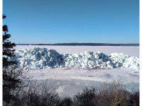 Ice Wall, Irish Vale, 2019. Cape Breton Spectator photo.