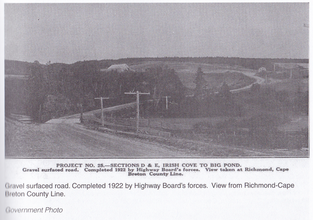 Photo of roadwork in Richmond County, NS, 1922. Source: From the Cove to the Glen: A Conversation with Joe Neil MacNeil