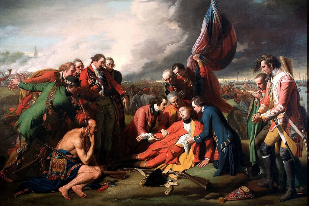 The Death of General Wolfe, 1770, Benjamin West (Public Domain via Wikimedia Commons)