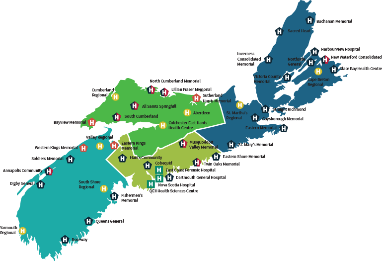 Nova Scotia Health Authority (NSHA) zones.