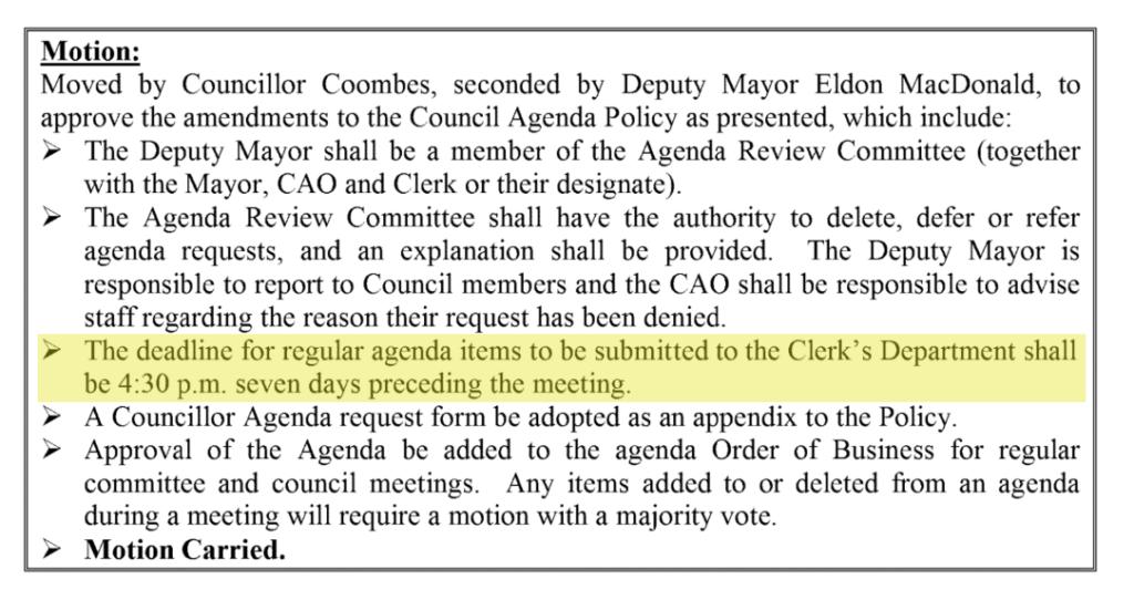Source: CBRM Council minutes 26 June 2018