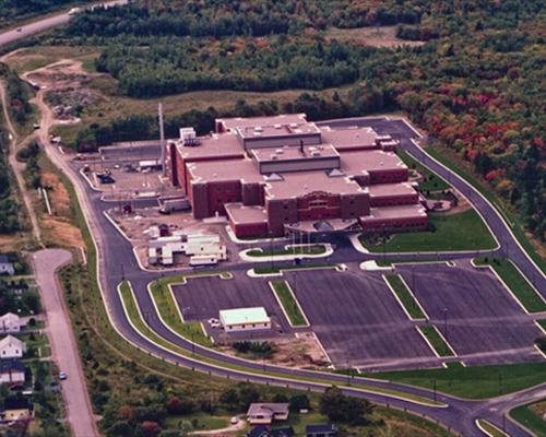 Aerial view of CBRH, pre-Health Park. (Source: CBCL http://www.cbcl.ca/municipal/municipal_gallery.html)