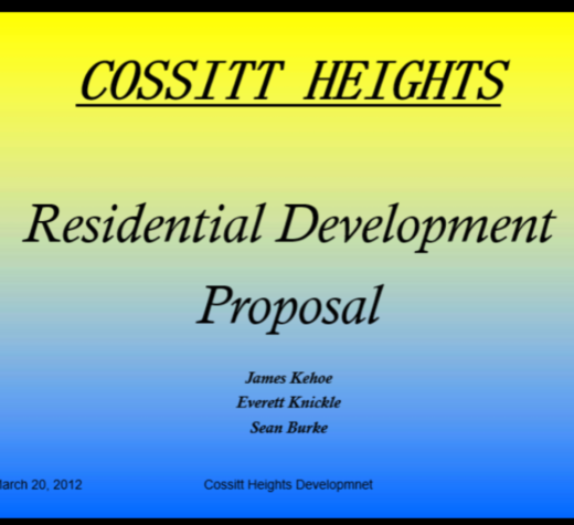 Cossitt Heights: The Power Point Presentation