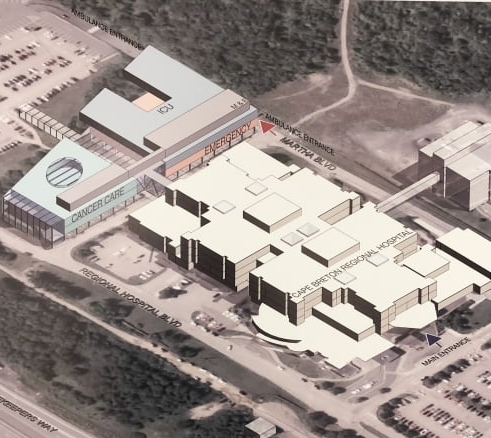 Artist's rendering of Cape Breton Regional Hospital expansion.