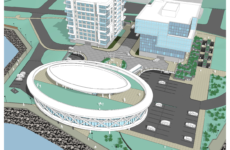 Artist's rendering, new CBRL Central Library, Sydney waterfront.