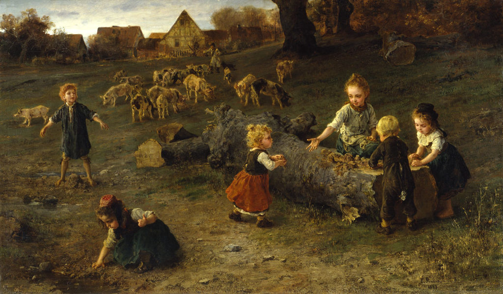 'Mudpies' By Ludwig Knaus, Walters Art Museum Public Domain, https://commons.wikimedia.org/w/index.php?curid=18782903