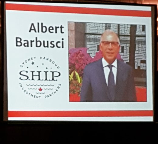 Albert Barbusci joining a December 2016 Port meeting by phone. (Source: Twitter)