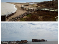 Top: La Dune de Bouctouche; Bottom: Percé