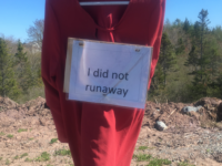 Red dress, Potlotek First Nation, 9 June 2019