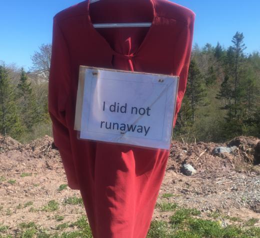 Red dress, Potlotek First Nation, 9 June 2019
