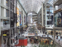 Toronto's Eaton Centre, facing south. (Public Domain via Wikimedia Commons)