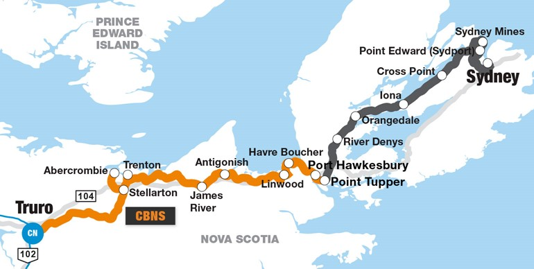 CBNS Railway. (Source: G&W website https://www.gwrr.com/railroads/north_america/cape_breton_central_nova_scotia_railway#m_tab-one-panel)